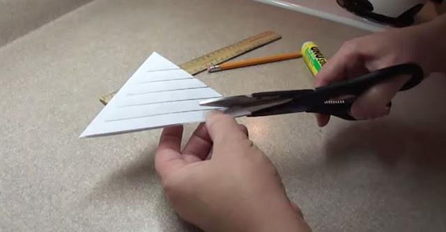 DIY Lacy Paper Snowflake Decoration