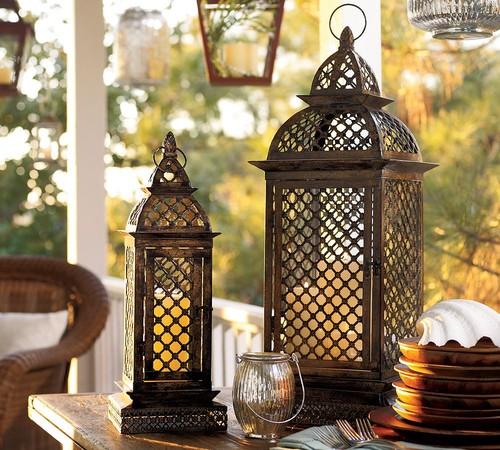 lanternas marroquinas decoração rústica