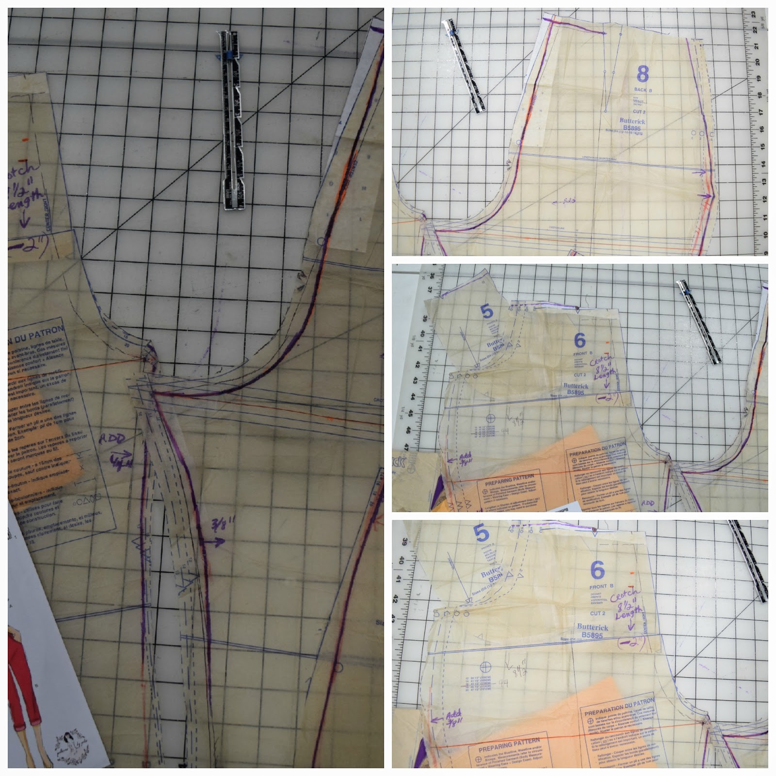 These alterations were completed on Butterick 5895