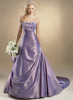 Purple Bridesmaid Dress on Purple Wedding Dress