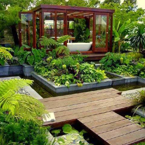 Contoh Gambar Desain Taman Minimalis di Luar Rumah