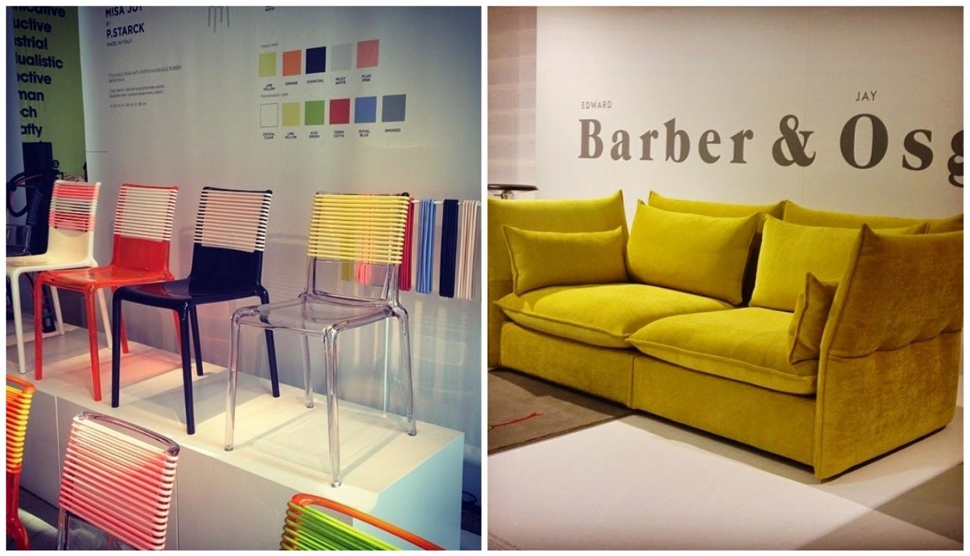 cadeira de Philippe Starck e sofá Mariposa de Edward Barber @casavoguebrasil - Semana Internacional do Móvel de Milão 2014