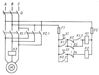 Схема электропривода зажимного устройства