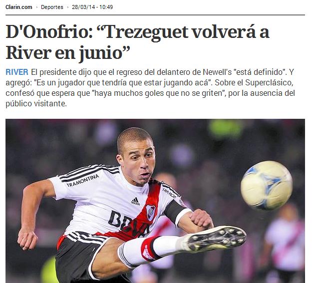 D'Onofrio, Rodolfo D'Onofrio, Trezeguet, David Trezeguet, River, River Plate, #RiverPlate, Cavenaghi,