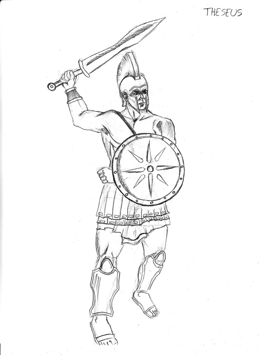 theseus coloring pages - photo#7