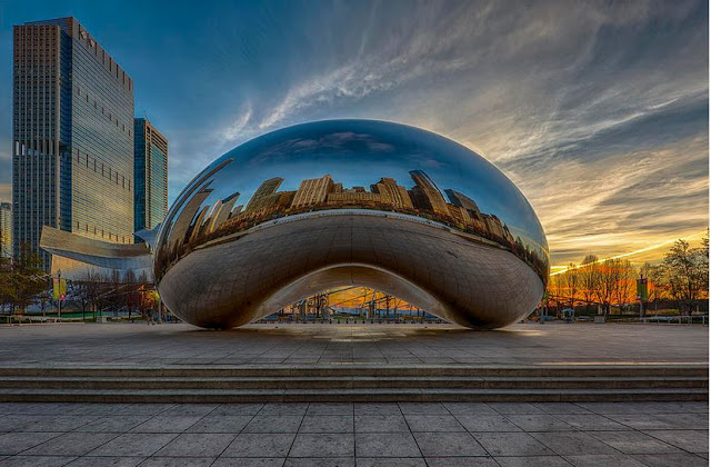 Buy Canvas Print of Sunrise Cloud Gate