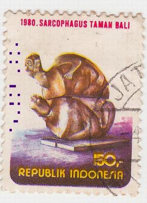 Perangko Sarkofagus Tamanbali Rp 150 Tahun 1980