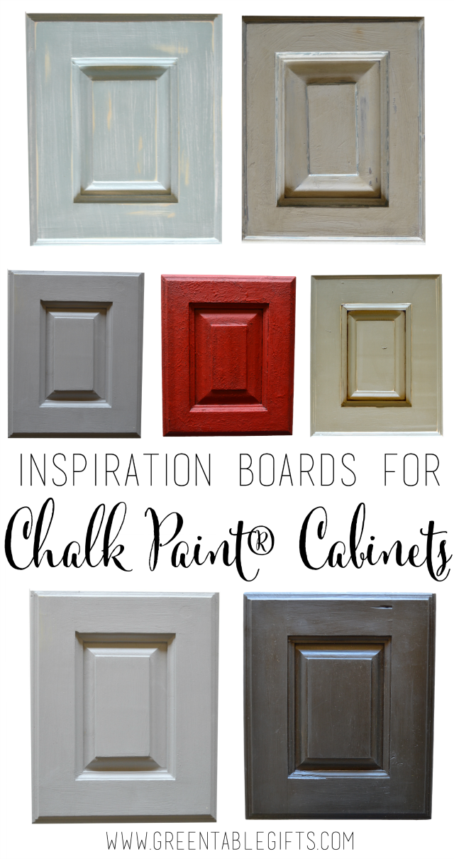 Green table mercantile six inspiration boards for chalk for Chalk paint kitchen cabinets