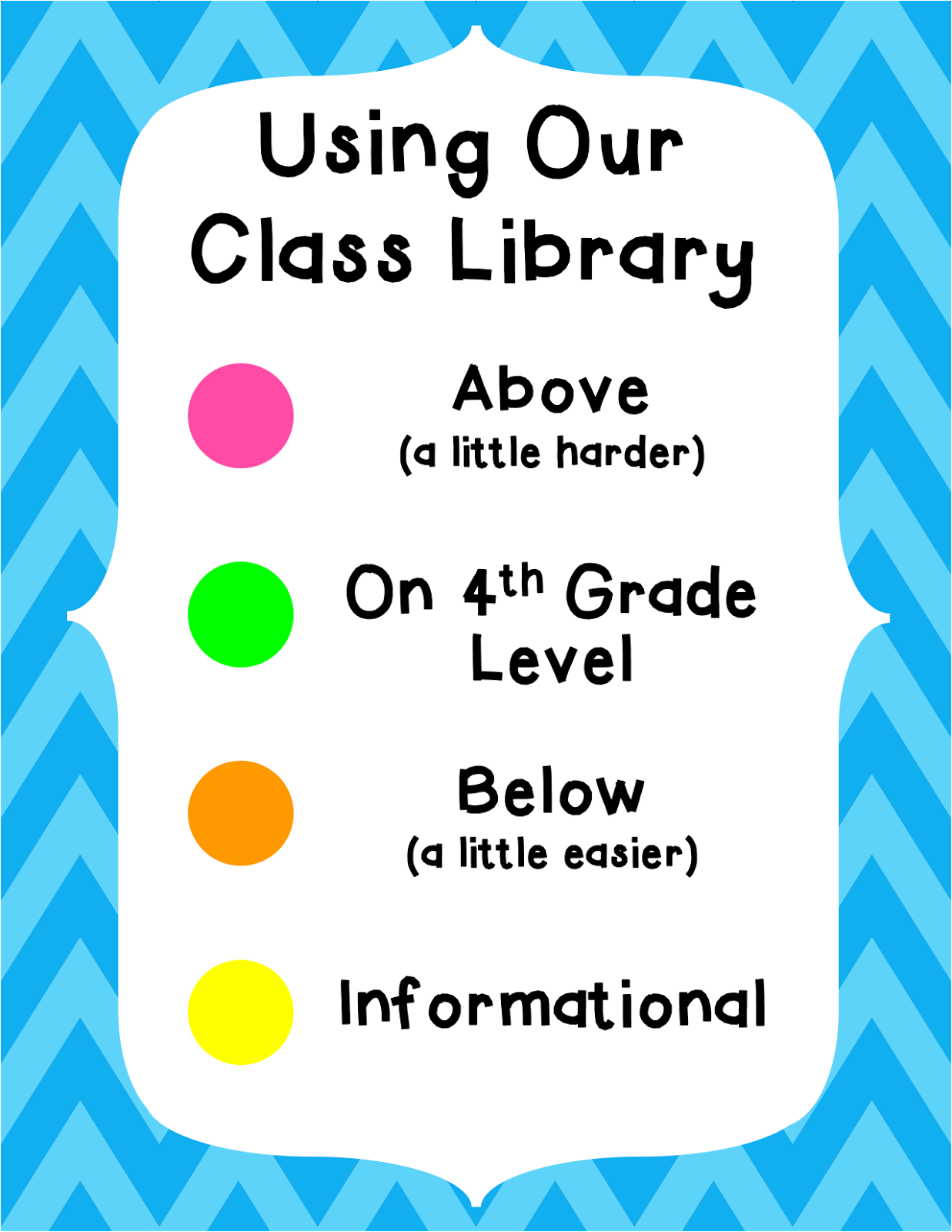 Cute in the classroom august 2014 to determine this i use a combination of lexile dra and gle levels to determine whether a book is above on or below fourth grade nvjuhfo Gallery