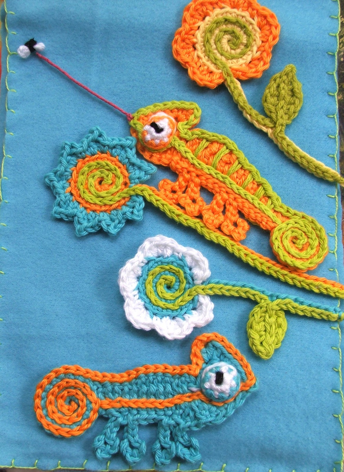 Susan\'s Hippie Crochet: A New Chameleon Pattern inspired by Pascal!