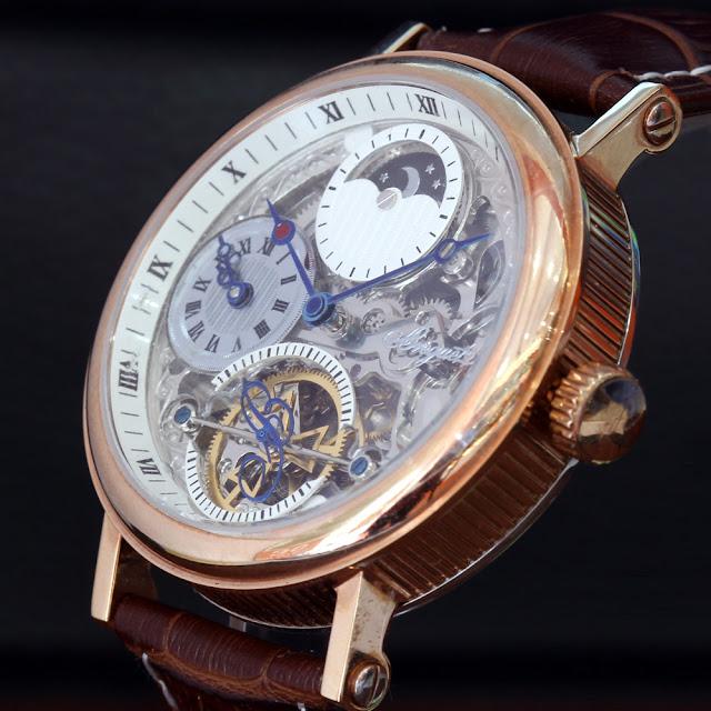Đồng hồ cơ nam với thiết kế tài tình