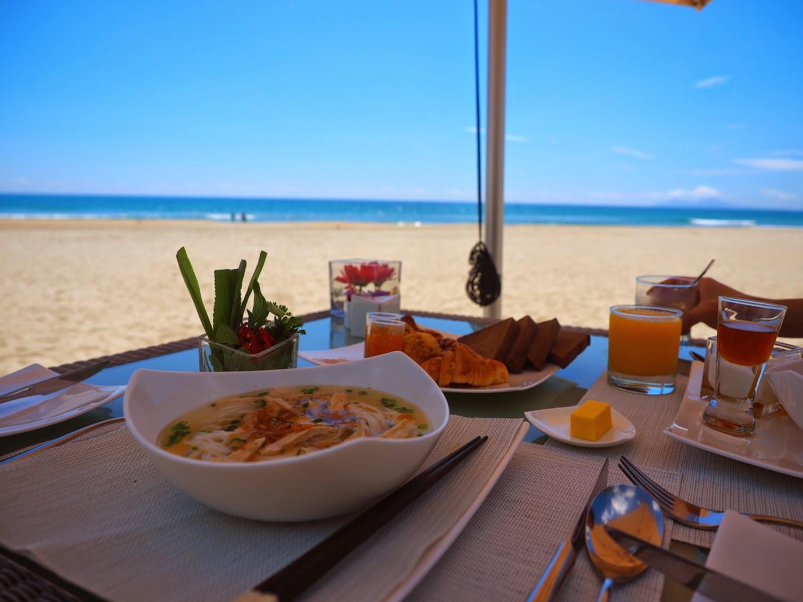 Vietnamese breakfast beach Fusion Maia Da Nang Vietnam