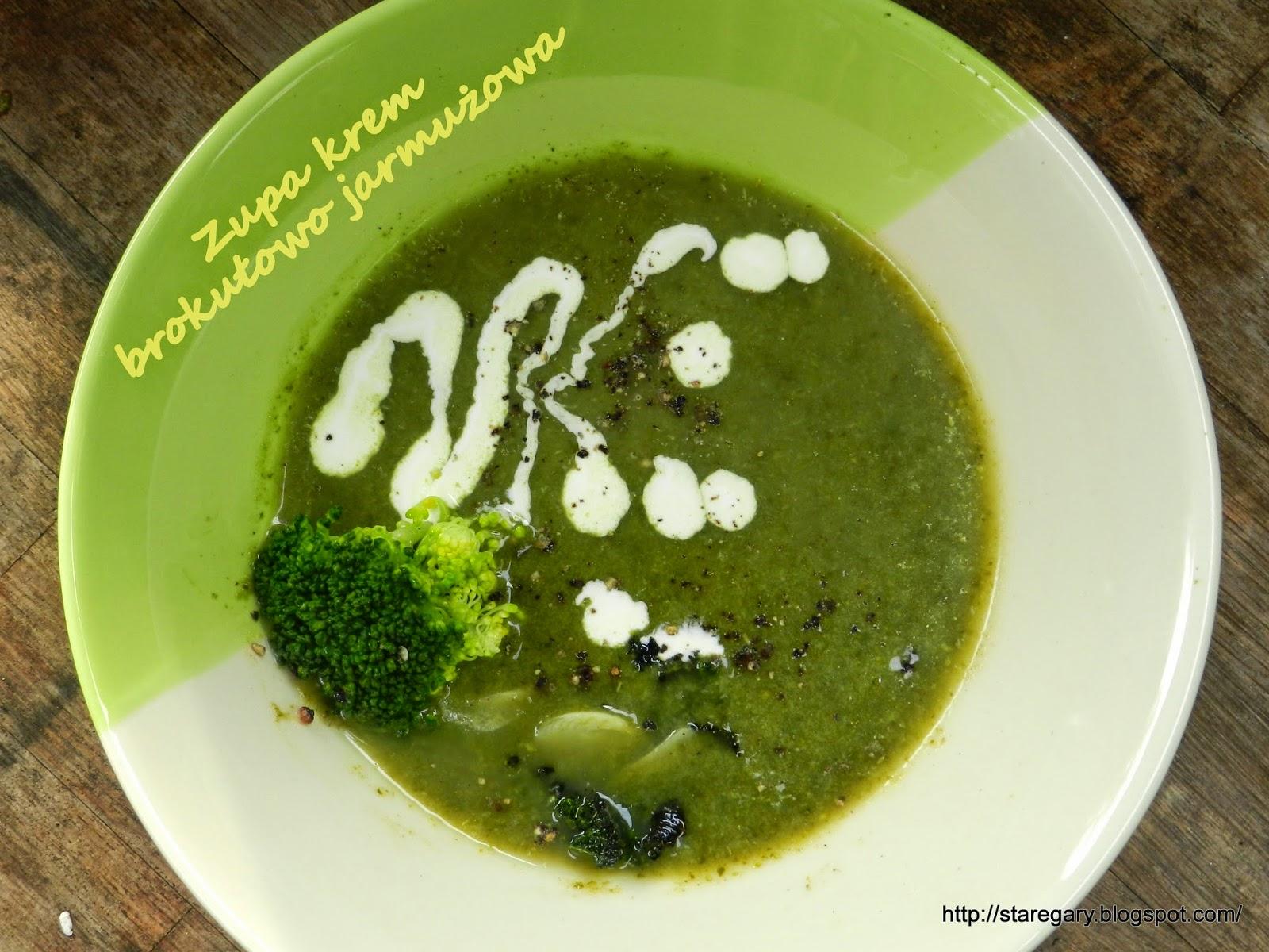 Zupa krem brokułowo jarmużowa
