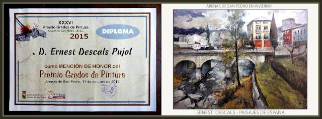 ARENAS DE SAN PEDRO-CONCURSO-PINTURA-PREMIOS-GREDOS-VALLE DEL TIETAR-MENCION-HONOR-PAISAJES-PINTOR-ERNEST DESCALS