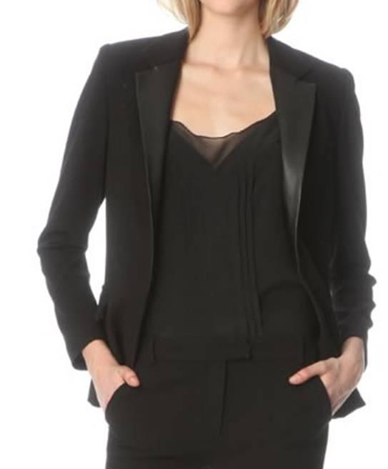 Veste tailleur en cuir femme