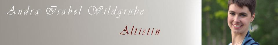 Andra Isabel Wildgrube  |  Altistin