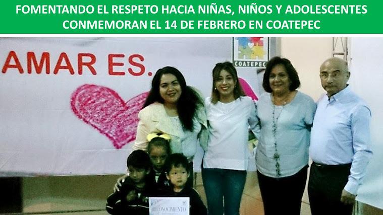 FOMENTANDO EL RESPETO HACIA NIÑAS, NIÑOS Y ADOLESCENTES CONMEMORAN EL 14 DE FEBRERO EN COATEPEC