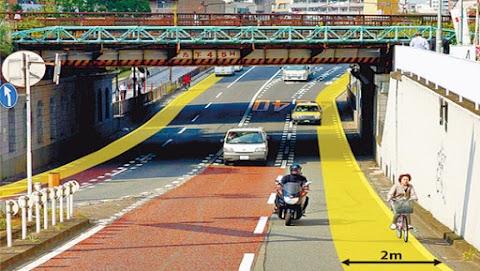 Bicycle Lane in Kawasaki to Become Permanent