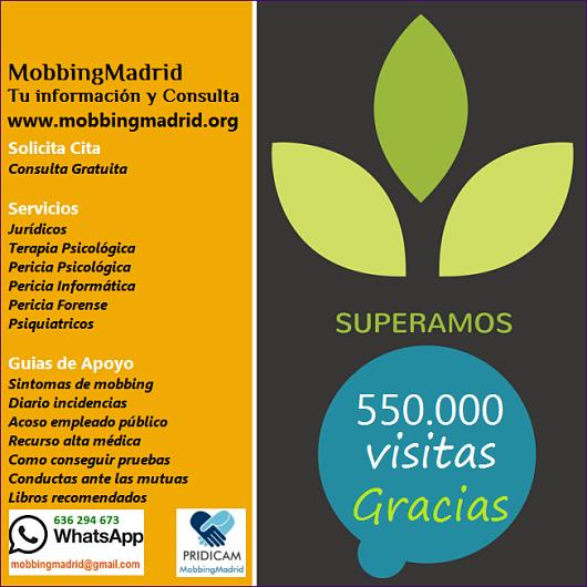 Mobbing Madrid Superamos las 550.000 lecturas de España y paises de lengua española