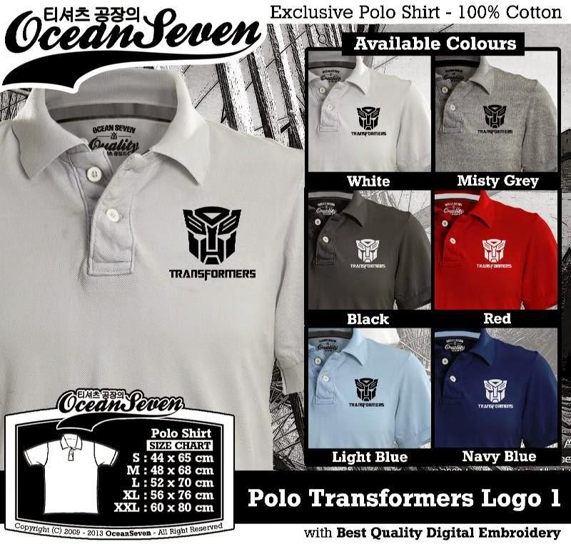 Kaos Polo Transformers Logo 1