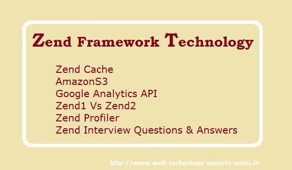 Zend Framework Technology