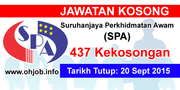 Jawatan Kerja Kosong Suruhanjaya Perkhidmatan Awam Malaysia (SPA) logo www.ohjob.info september 2015