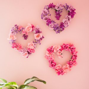 Featured Project: Floral Heart Wreaths