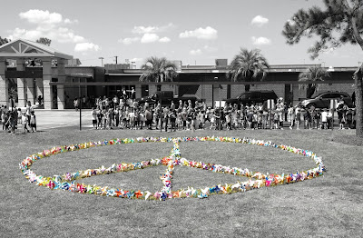 photos of Pinwheels For Peace Sign