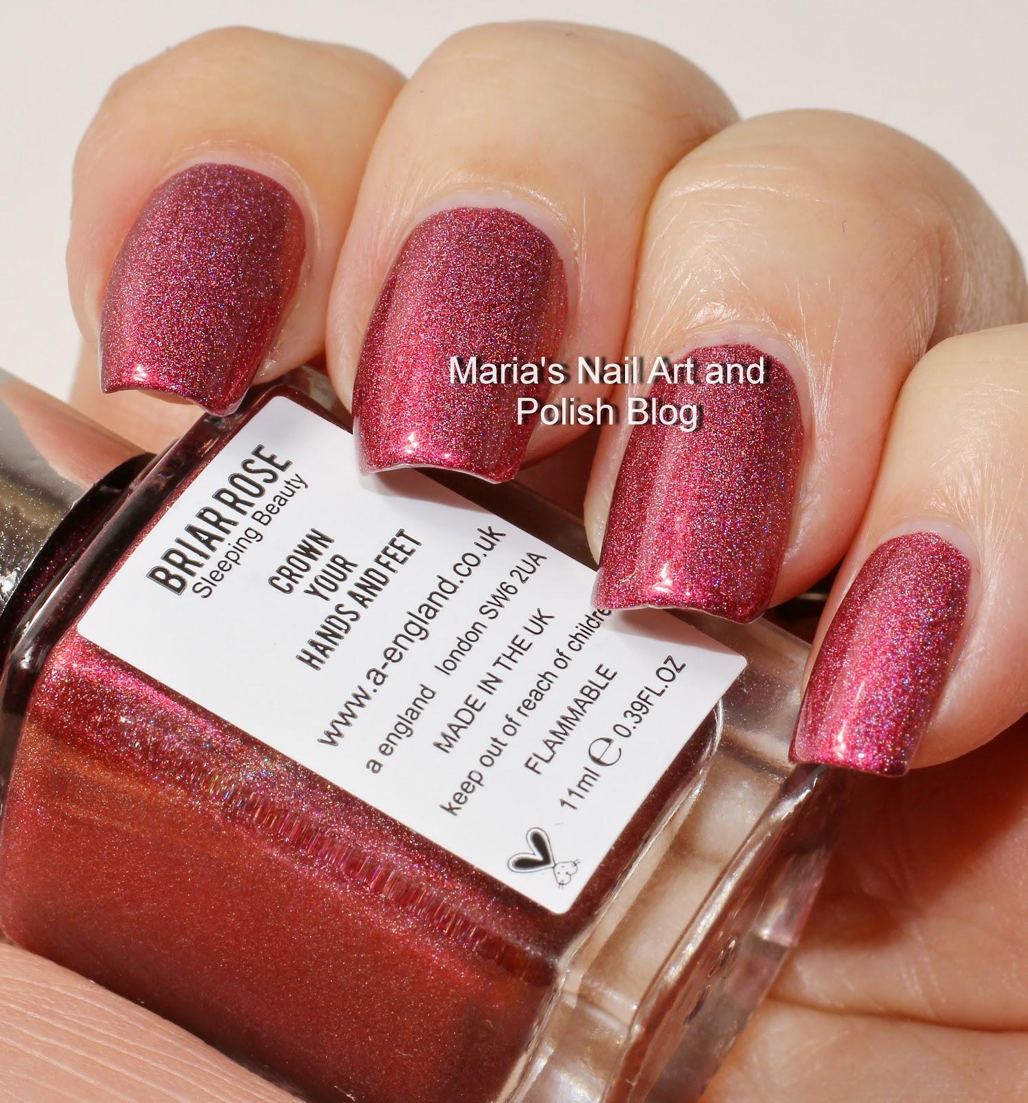 Sleeping Beauty Nail Art: Marias Nail Art And Polish Blog: A England Briar Rose Aka