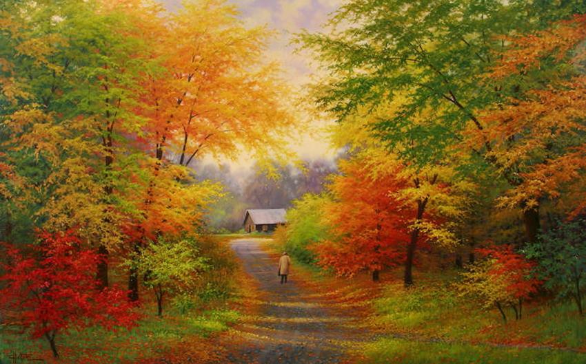 Im genes arte pinturas paisajes decoraciones del oto o en - Imagenes paisajes otonales ...