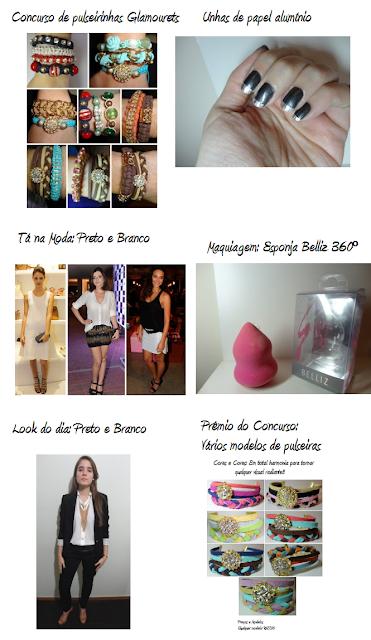 Resumo da semana Glamourets.