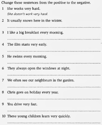 Passive voice simple tenses test
