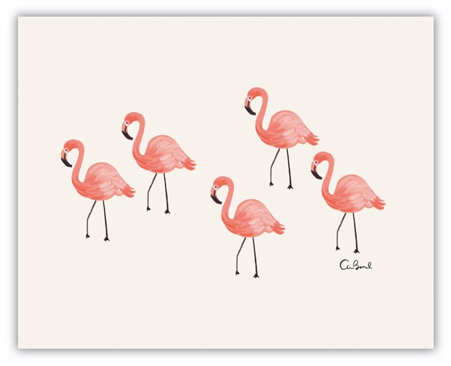 Flamingo Art Print 8x10 From Chapters