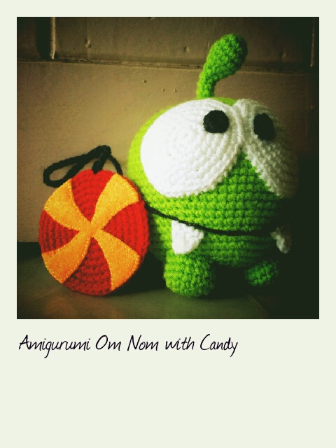 Amigurumi Om Nom with Candy ~ Just My Lil Organic Life