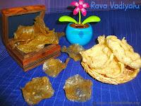 images for Rava Vadiyalu Recipe /  Rawa Vadiyalu / Sooji ke Papad / Bombay Rava Vadiyalu