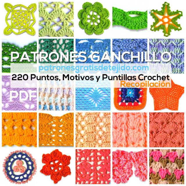 Revista con 220 Patrones de Puntos, Motivos y Puntillas Crochet ...