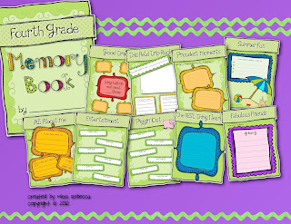 Kindergarten First Second Third Fourth Fifth Grade End of the Year Memory Book