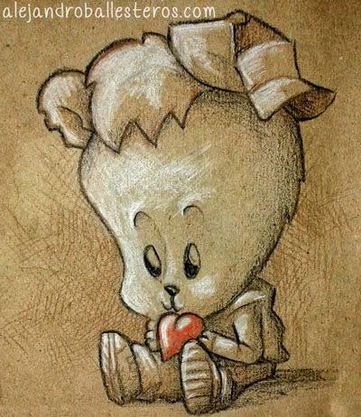 ilustración oso de peluche