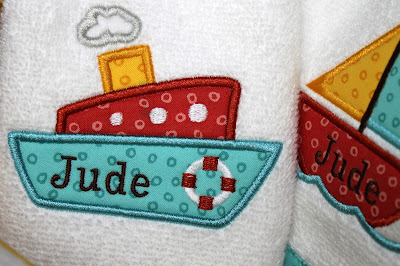 Embroidered burp cloth