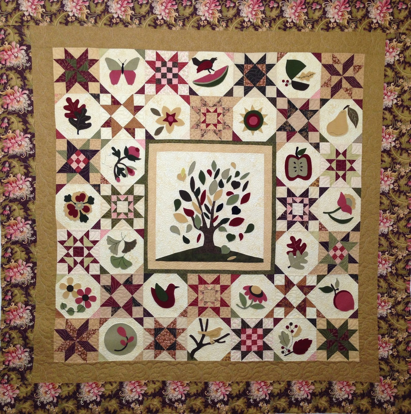Laura Waclawczyk Wool Sampler quilt