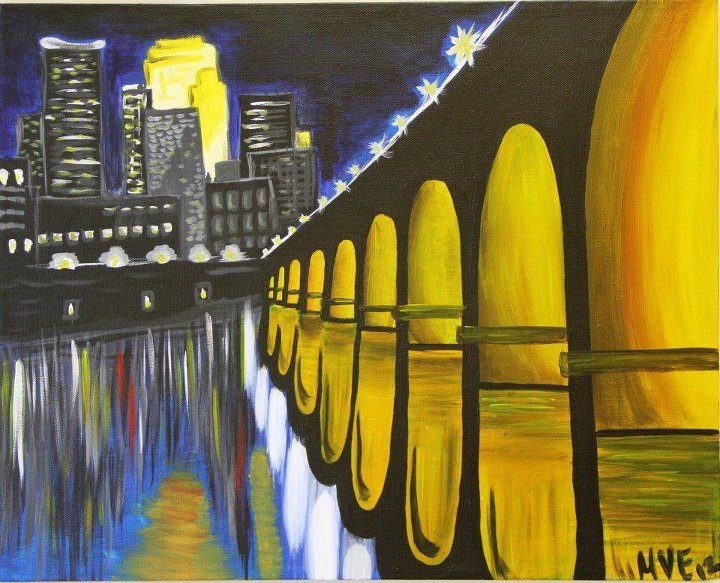 Minnesota bloggers join us for a night of wine painting for Wine and painting mn