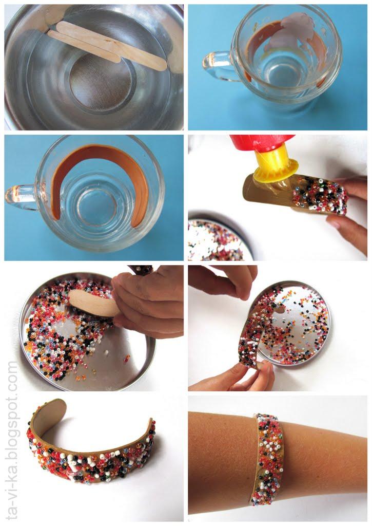 Как сделать браслет из деревянных палочек