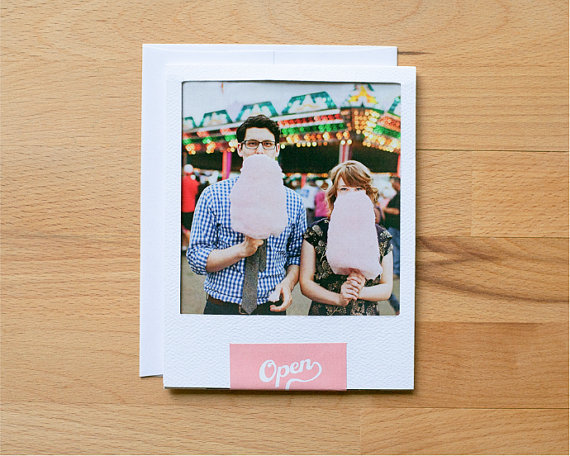 Vintage Polaroid wedding invitations First up is a DIY project which I