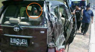 Inilah Foto Hantu dalam Mobil Saipul Jamil dari Dekat