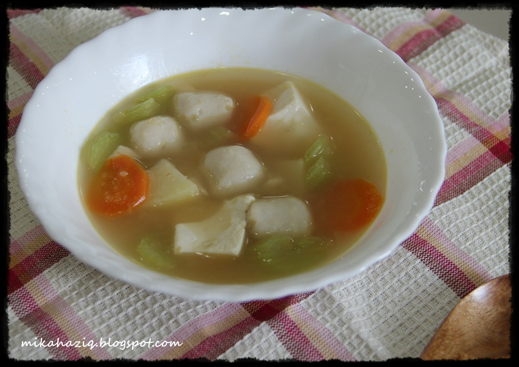 Mikahaziq fish ball soup menu kanak kanak for How to make fish soup