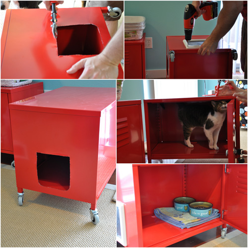 MoCrafty IKEA Hack Cat Cabinets