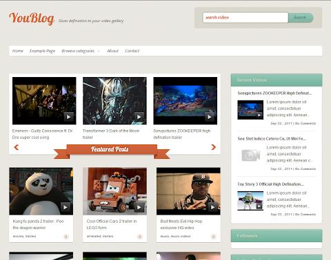 YouBlog Blogger Theme