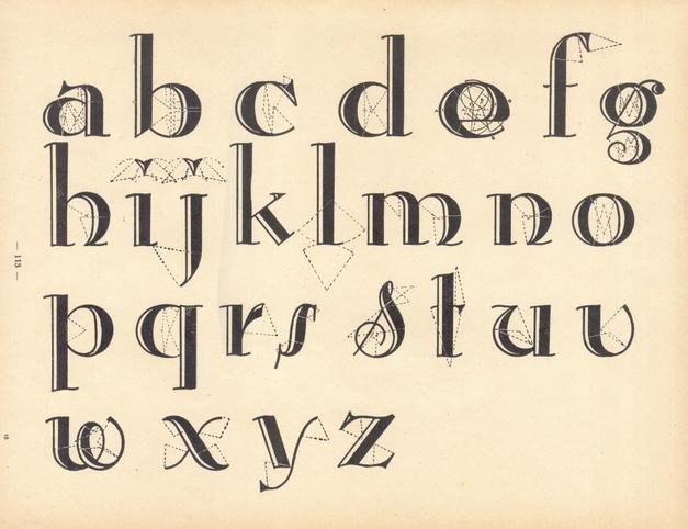Vintage Art Deco Alphabet Typography