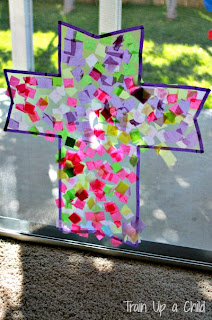 Cross Suncatcher Easter Craft