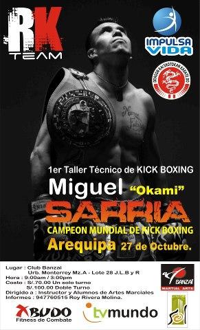 Miguel Sarria en Arequipa (27 oct)